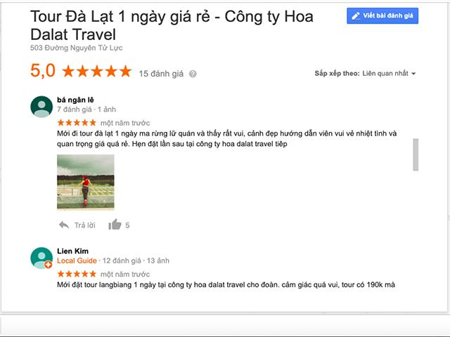 Review tour du lịch Đà Lạt trong ngày