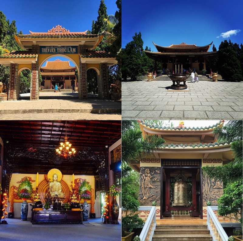 Khu vực chính thiền viện trúc Lâm Đà Lạt