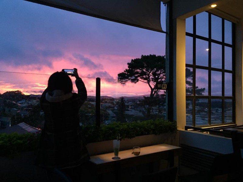 Check in tại Cafe Panorama Đà Lạt